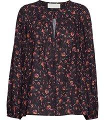 alina blouse lange mouwen zwart fall winter spring summer