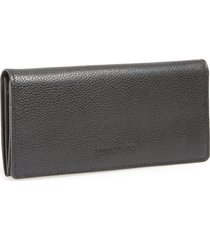 longchamp veau foulonne continental wallet in black at nordstrom