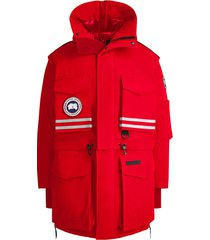canada goose x angel chen snow mantra convertible parka coat - red