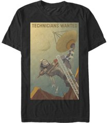 nasa men's mars technicians wanted short sleeve t-shirt