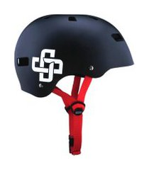 capacete preto fosco fita vermelha iron pro