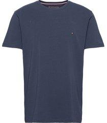 core stretch slim cneck tee t-shirts short-sleeved blå tommy hilfiger
