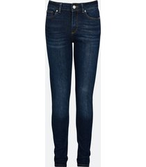 high waist harper jeans - mörkblå