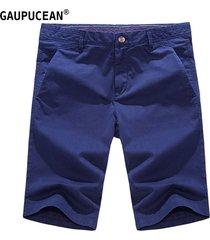 pantalones cortos casual gaupucean para hombre-azul