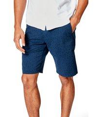 men's good man brand monaco slim fit flat front shorts, size 42 - blue