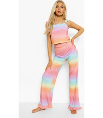 ombre pyjama set met hemdje en broek, multi