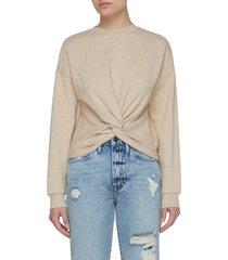 front twist detail cotton sweatshirt