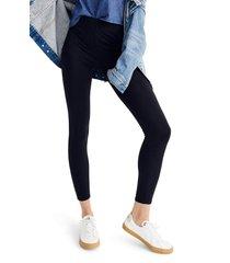 women's madewell mwl high-rise knit leggings, size xx-small - black