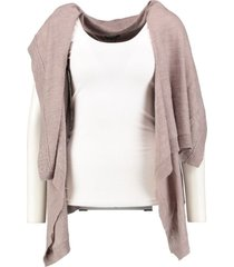 broadway mouwloos vest light taupe