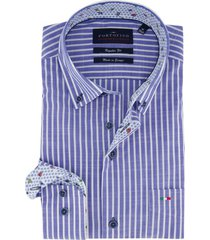overhemd portofino blauw wit gestreept