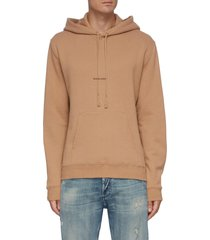'rive gauche' logo embroidered oversized hoodie