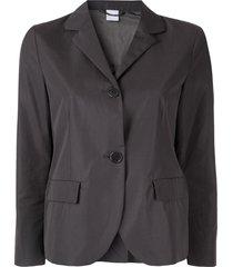 aspesi classic single-breasted blazer - grey