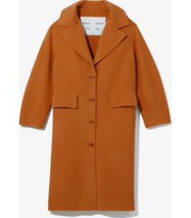 proenza schouler white label double face coat 00927 chestnut/brown m