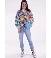 e with love vest cardigan cropped mix multicolour