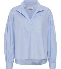 josephina shirt overhemd met lange mouwen blauw morris lady