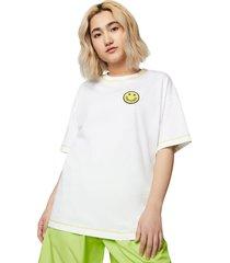 converse camiseta de manga corta happy camper boxy white