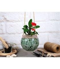 boho - ceramiczna doniczka wisząca