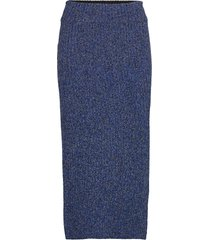 rodebjer lenata knälång kjol blå rodebjer