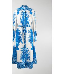 valentino floral-print shirt dress