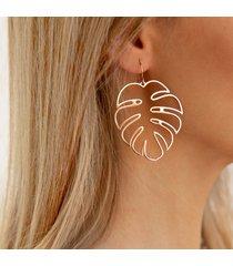 dichiarazione orecchio goccia orecchio anelli trendy hollow leaves gioielli etnici long dangle for women