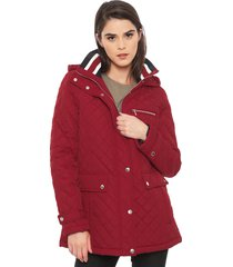 parka larga tommy hilfiger rojo - calce regular