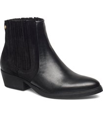 pushy 2.0 w leather shoes boots ankle boots ankle boots with heel svart sneaky steve