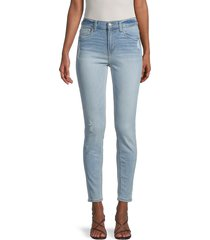 kensie women's high-rise ankle biter skinny jeans - rosewood - size 26 (2)