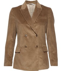 d1. wide wale cord blazer blazer kavaj brun gant