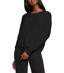 women's michael stars chloe pullover, size x-small - black