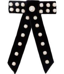 jennifer behr perlita bow hair clip - black
