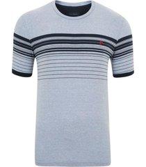 camiseta com listras azul mescla generation - kanui