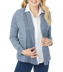 foxcroft open front a-line cardigan, size 2x in denim blue at nordstrom
