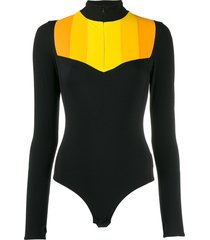 no ka' oi powerhouse bodysuit - black
