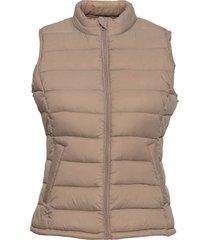 viminsk short quilted waistcoat/pb vests padded vests beige vila