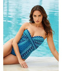 seville mosaica firm control one-piece swimsuit
