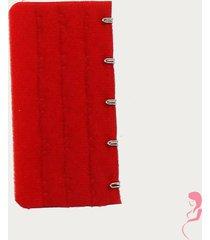 op en top zwanger beha / corset verlenger 5 haaks rood (per stuk)