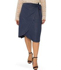 standards & practices brie wrap skirt, size 20w in dark indigo at nordstrom