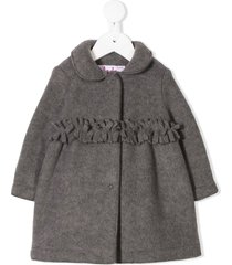 il gufo peter pan collar jacket - grey