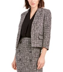 bar iii tweed open-front jacket, created for macy's