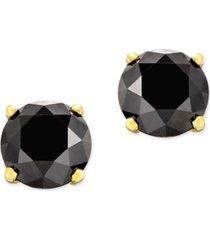black diamond stud earrings (1-1/2 ct. t.w.) in 14k white gold