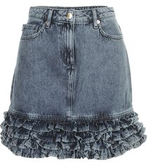 love moschino short skirt w/rouches