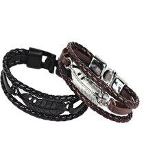 braccialetto punk con multistrati