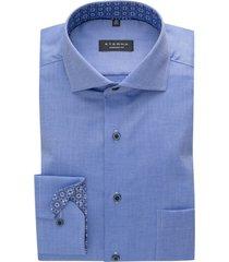 mouwlengte 7 shirt eterna comfort fit blauw