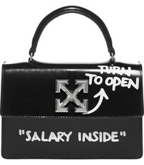 off-white 1.4 jitney leather bag