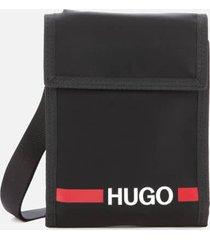 hugo men's record r pouch - black