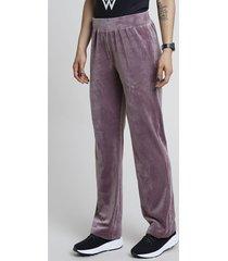 calça feminina esportiva ace em plush lilás