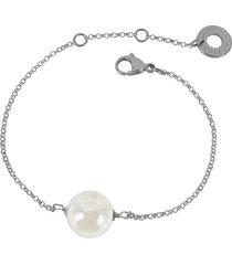 antica murrina designer bracelets, perleadi white murano glass bead chain bracelet