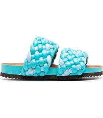 paul warmer braided-strap sandals - blue