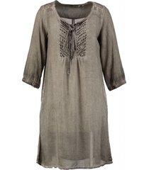 garcia blouse jurk 3/4 mouw stone gray