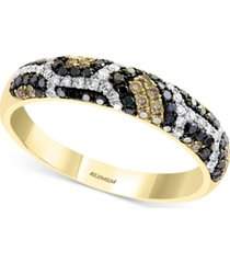 effy multi-color diamond ring (3/8 ct. t.w.) in 14k gold